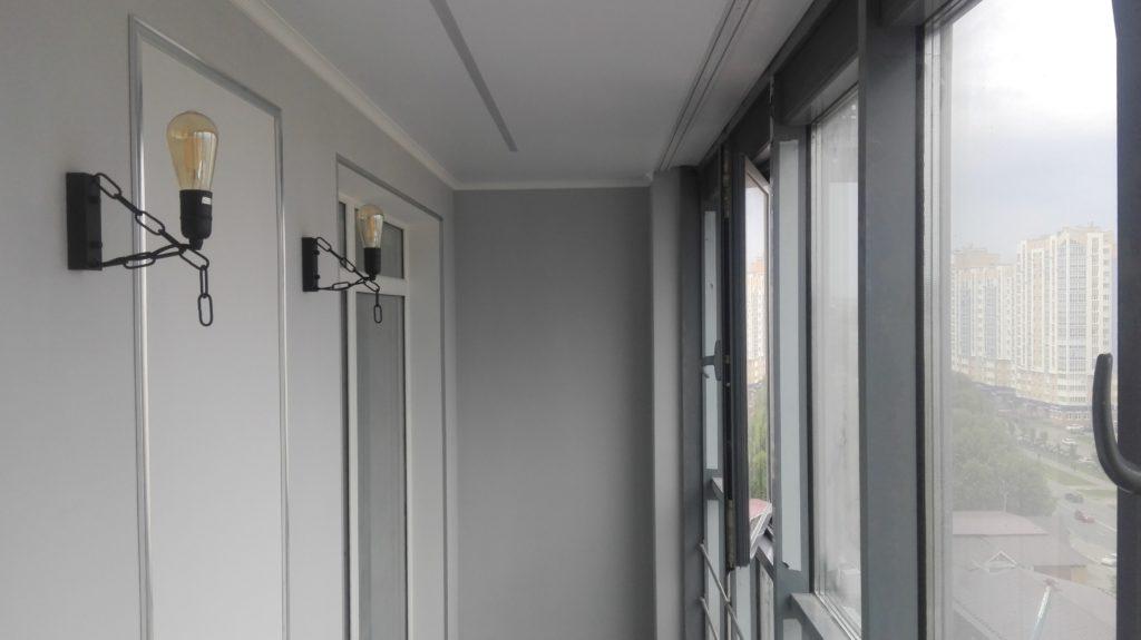 Покрашенные стены - основа дизайна в квартире